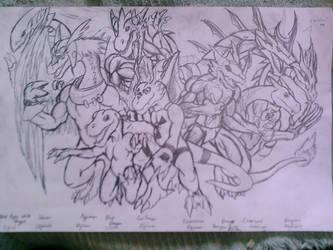 My most favorite anime dragons by TargonRedDragon