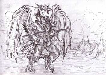 Me as a recruit by TargonRedDragon
