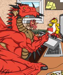 A Happy Dragon Artist by TargonRedDragon