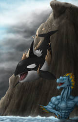 Commission: The Morphed Orca by TargonRedDragon
