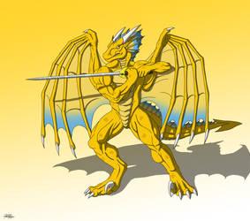 Golden Valor by TargonRedDragon