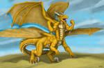 Commission: The Dragontaur by TargonRedDragon