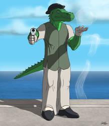 The Badass Gator by TargonRedDragon