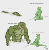 Alligator or Bust by TargonRedDragon