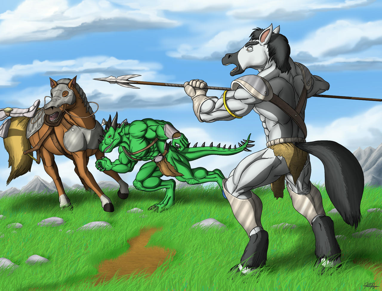Commission: Surprise Attack by TargonRedDragon