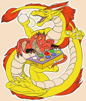 Pop'n Dragons (T-shirt print)