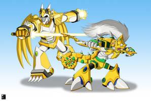 Commission: Lightning Hunter Duo by TargonRedDragon