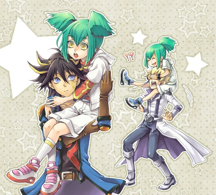 Yusei and Luna Jack and Leo by Bleachnumber1 on DeviantArt