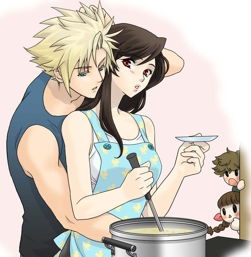 Cloud and Tifa cooking by Bleachnumber1 on DeviantArt  Final Fantasy Cloud And Tifa Fanfiction