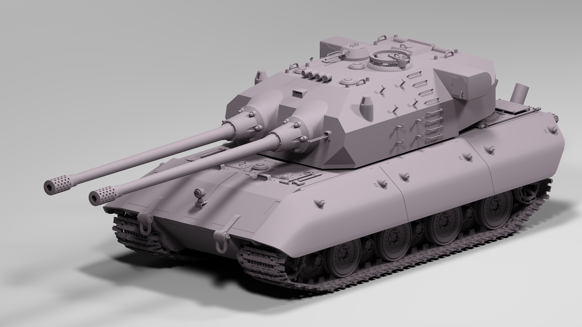 E-100 BB Turret Concept WIP by TigerclawAUT