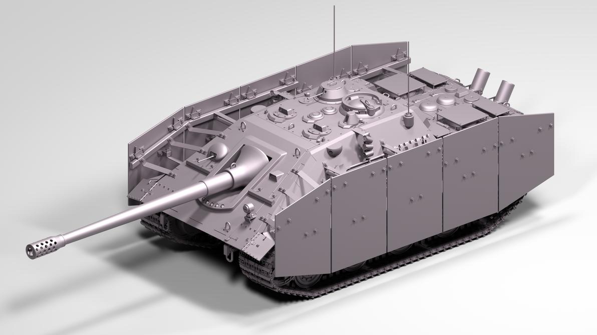Jagdpanzer-75 Ausf. G 1946 12.8 cm KwK 45/L55 by TigerclawAUT