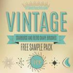Free vintage illustrator brushes sampler pack