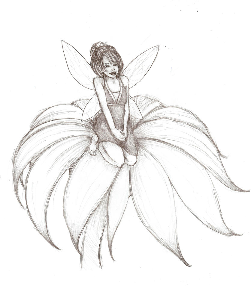 Fairy Resting on a Rose by Liralith on DeviantArt