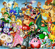 Super Smash Bros Brawl by khghibli