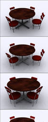 Table and Chairs by Eivo