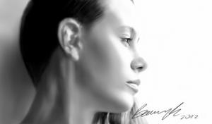 Digital drawing, portrait of a girl