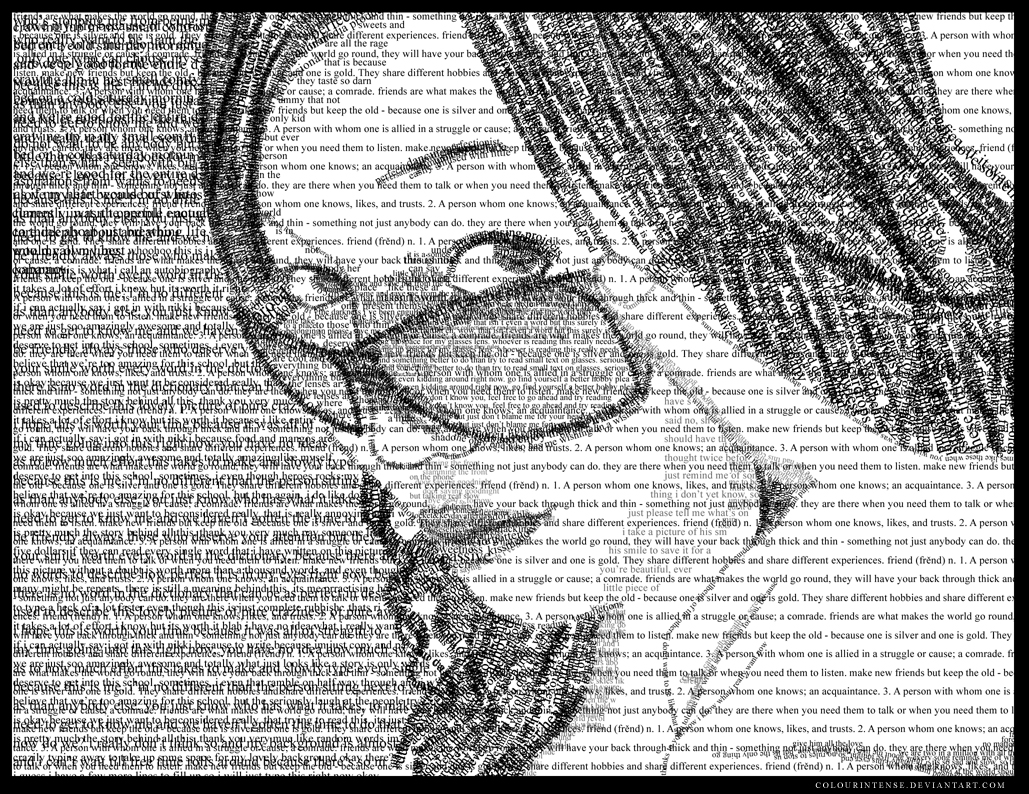 Typograpy Self-Portrait by colourintense
