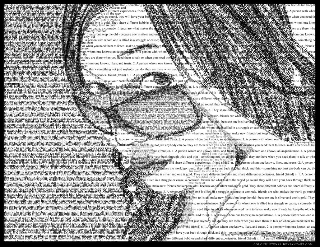 Typograpy Self-Portrait by colourintense