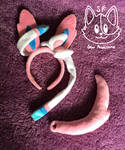 Sylveon Cosplay Ears and Tail by SewPawesome