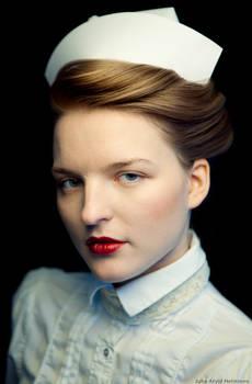 Gea dressed as a nurse
