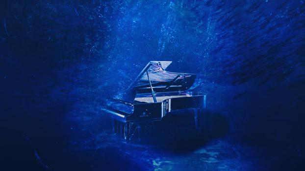 A piano under an ocean by CallMeShi