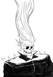 Inktober #2: Ghostrider by mmacklin