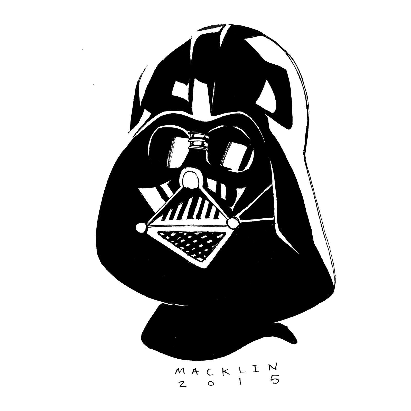 Inktober Darth Vader by mmacklin