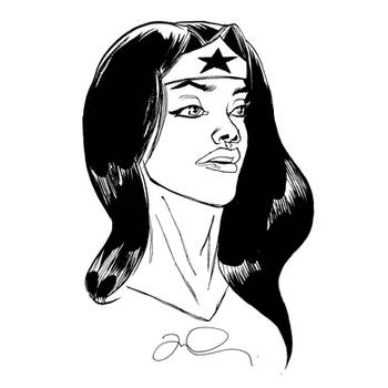 Inktober: Wonder Woman by mmacklin