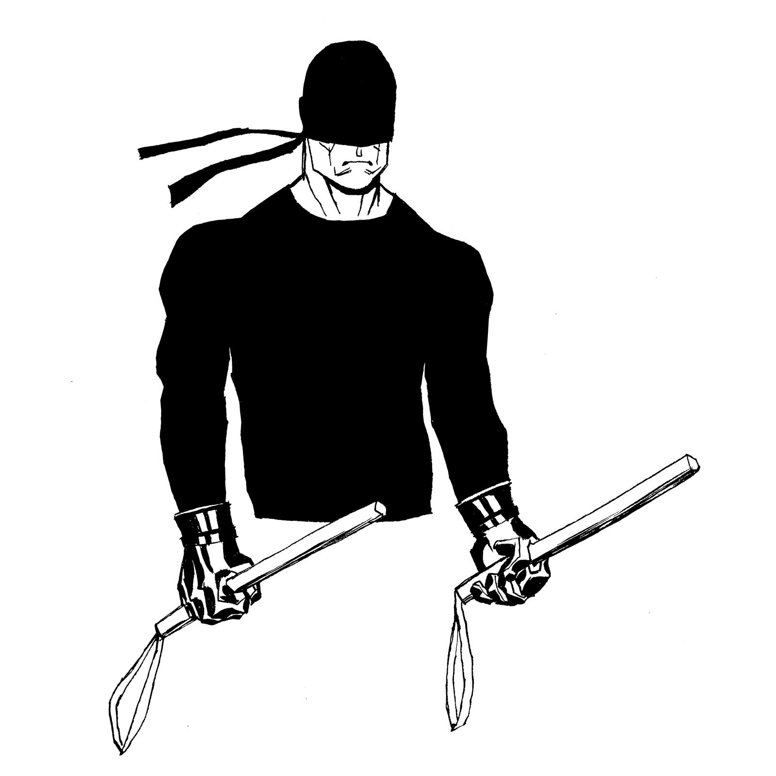 inktober Daredevil by mmacklin