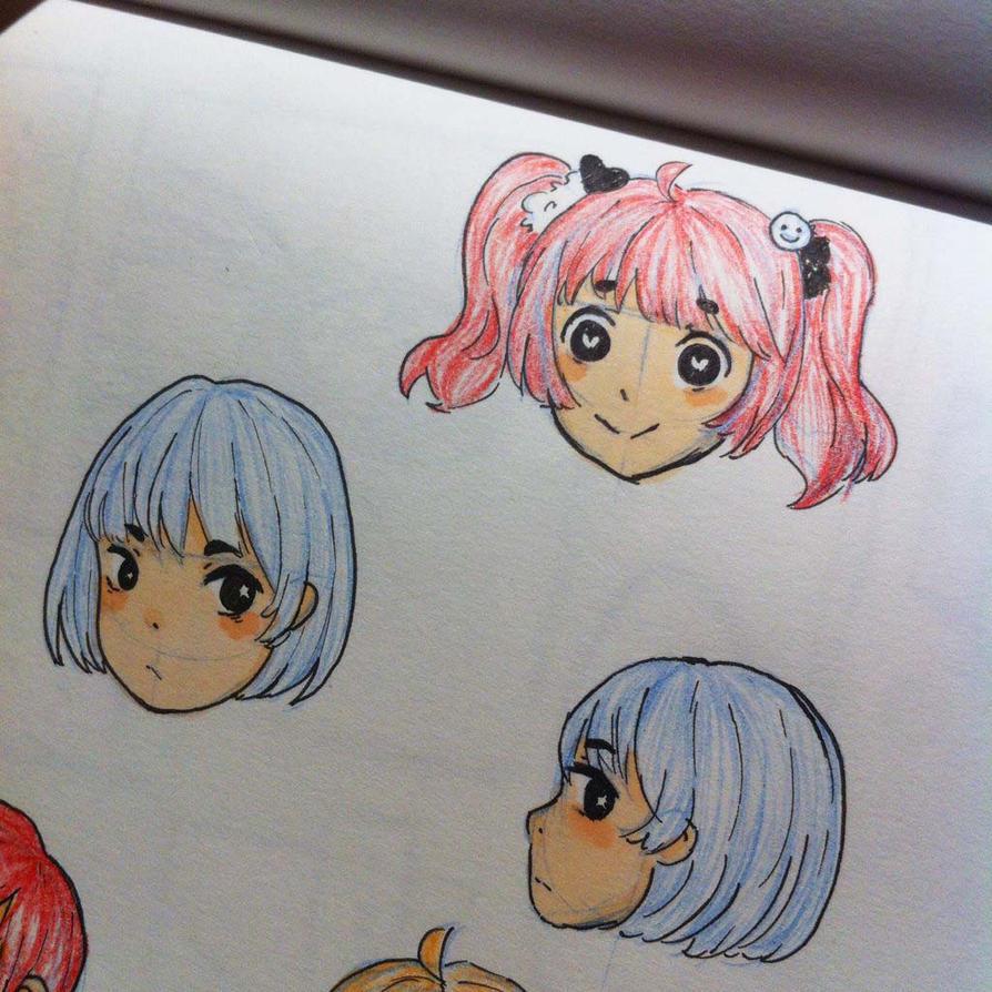 Chibi heads '-') by notgingerish