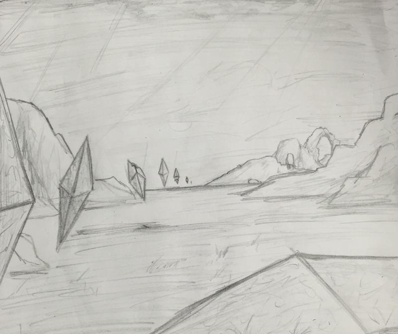 Zendikar Plains-Mountains sketch by Zire9