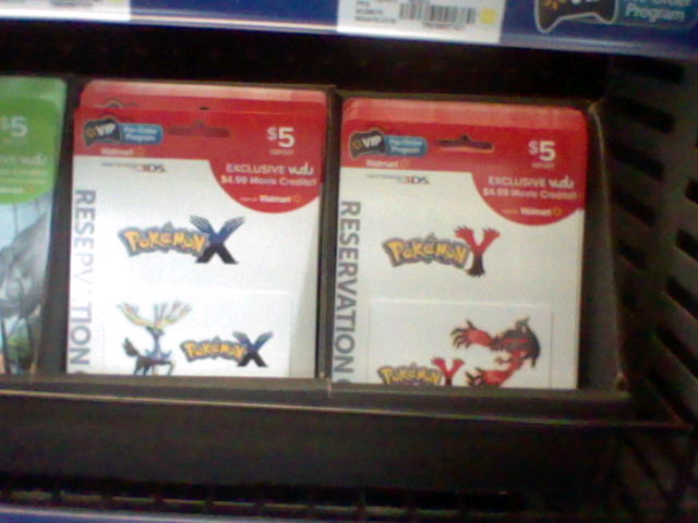 Pokemon X and Y Walmart Preorder Cards by Hellblaze
