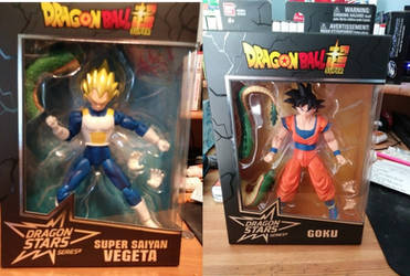 Dragon Stars Vegeta SSJ and Goku by Hellblaze