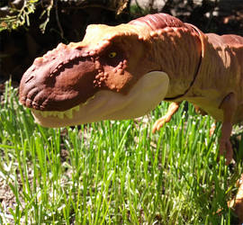 Tyrannosaurus rex close up by Hellblaze