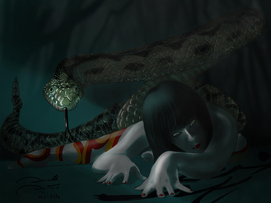 The Celestial Signs Contest: Chinese Zodiac Snake by soletine