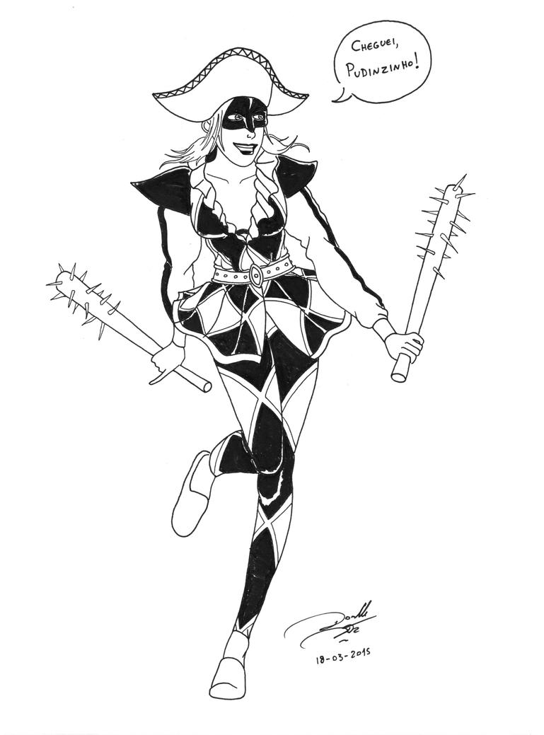 Harley Quinn as... a harlequin by soletine