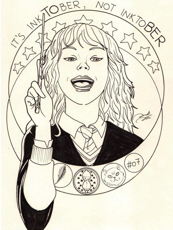 #Inktober 07 - Hermione Jean Granger by soletine