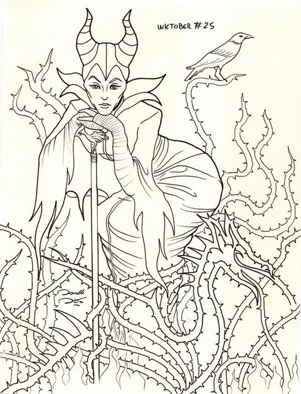 #Inktober 25 - Maleficent by soletine