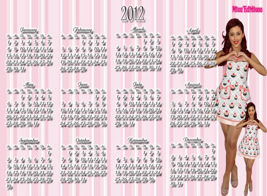 Ariana Grande Calendario.Calendario Ariana Grande By Mica Editions On Deviantart