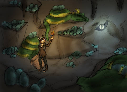 The Dragon Cave Sketch