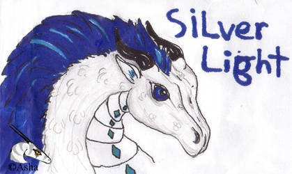 Silver Light's con badge by asha-dragon