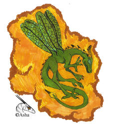 Dragonfly in amber by asha-dragon