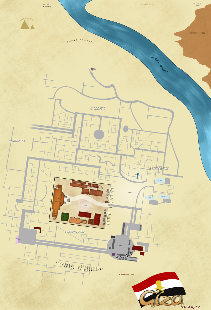 Marked Giza Map By Jeakilo On DeviantArt - Giza map