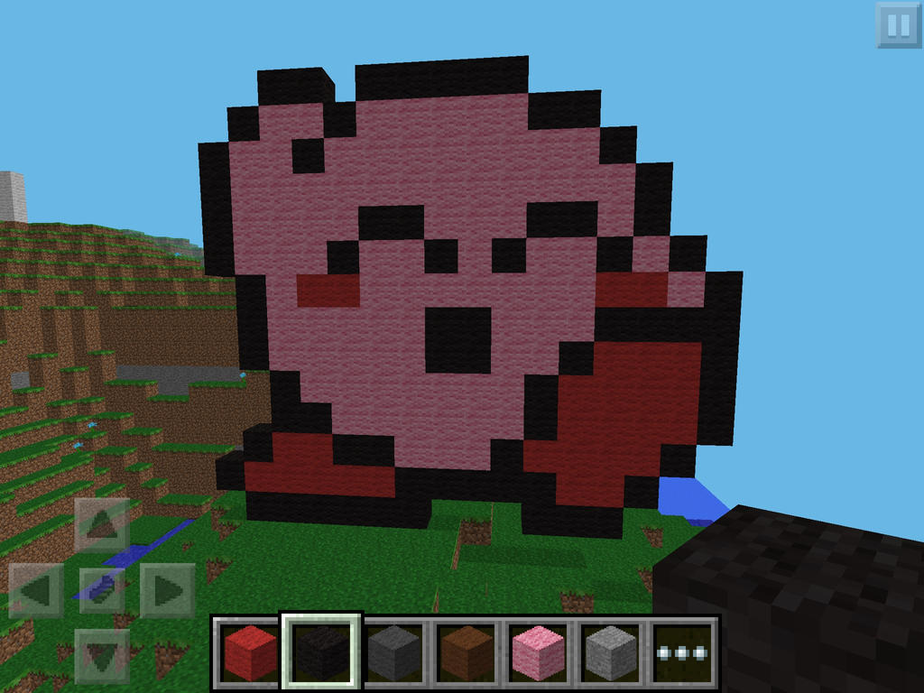 Kirby minecraft pixel art v2 by asteampunkpony on deviantart for How to make minecraft pixel art templates