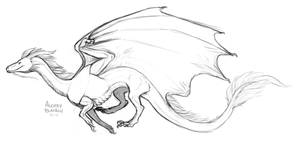 Weastern Dragon Sketch