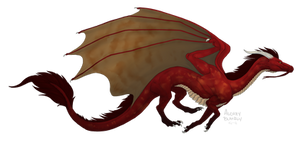 Red Weastern Dragon
