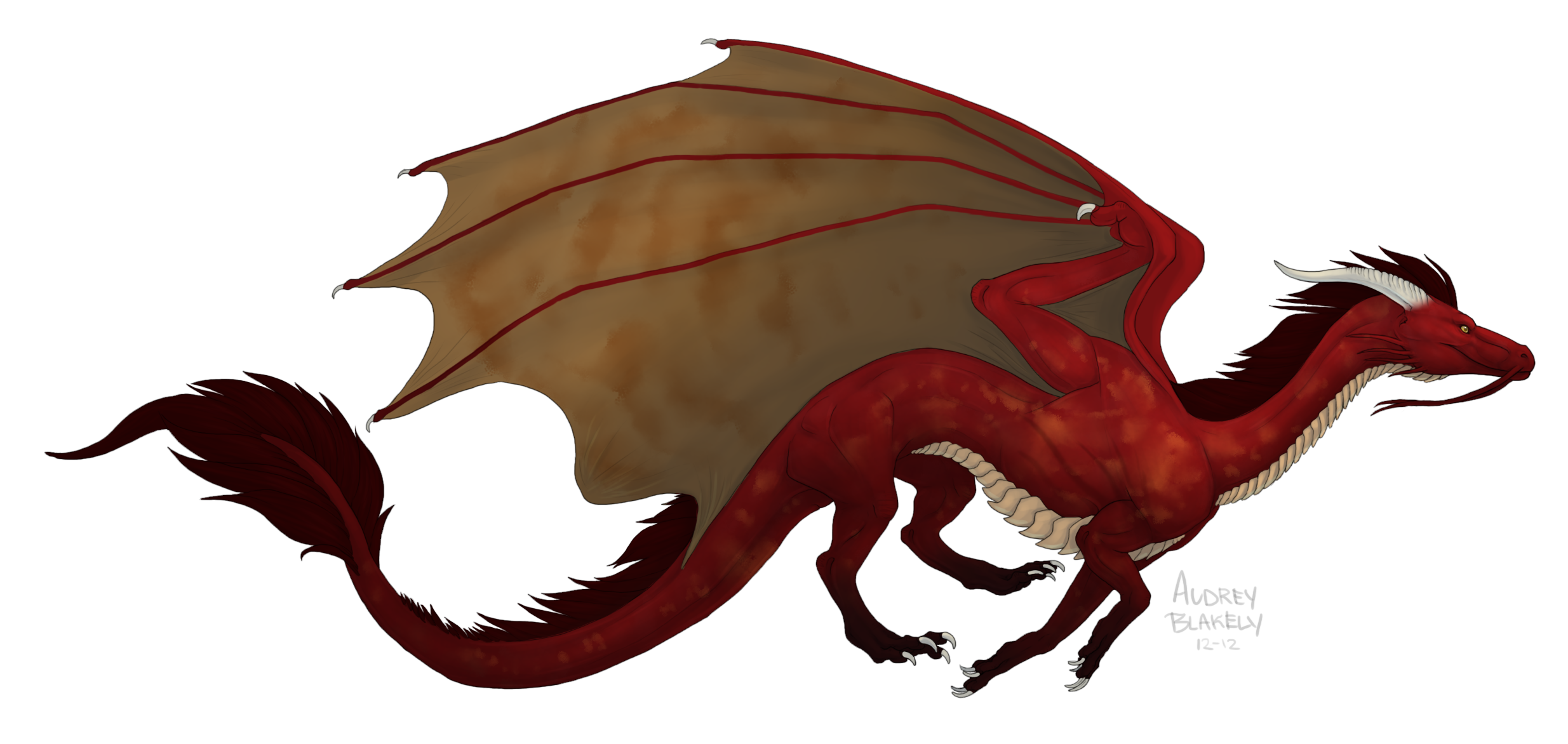 Red Weastern Dragon by Scaleeth