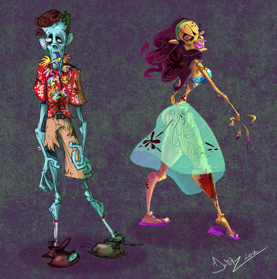 Zombie Island Tourists by dodgyrommer
