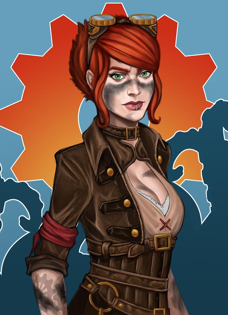 Steampunk Portrait by Cazareal