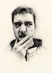 Portait (Pencil Draw) by MarcoFaccio